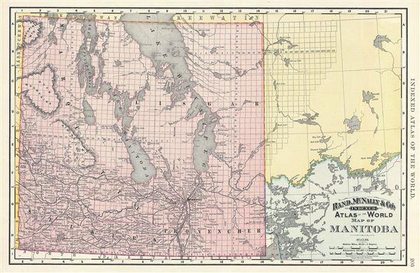 Map Of Manitoba Geographicus Rare Antique Maps - Map of manitoba