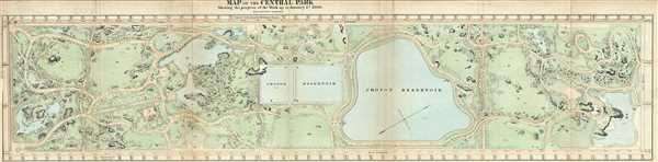 Map of the Central Park Showing the progress of the Work on January 1st 1866.