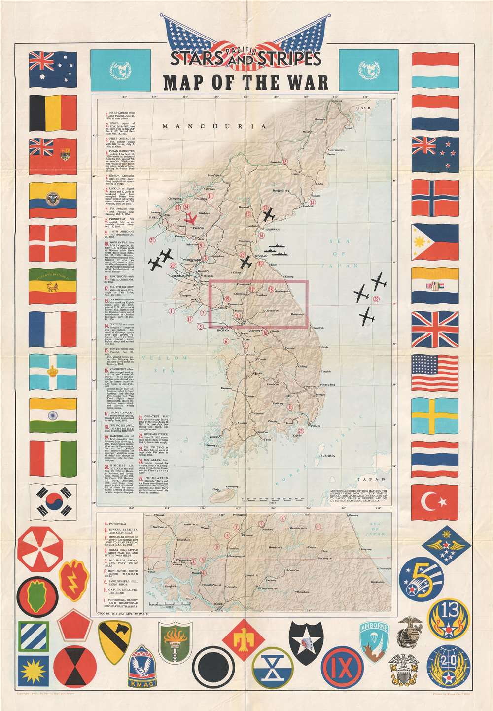 Pacific Stars and Stripes Map of the War.: Geographicus Rare ...