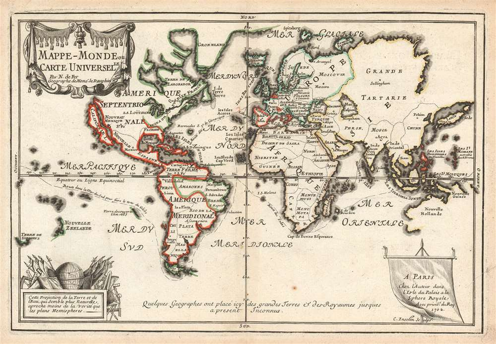 Mappe-Monde ou Carte Universelle. - Main View