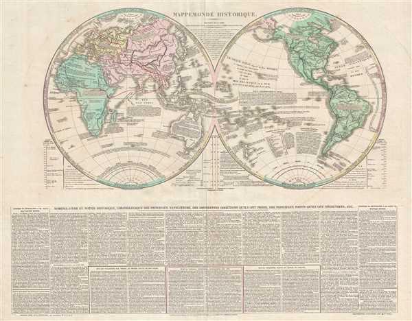 Mappemonde Historique.