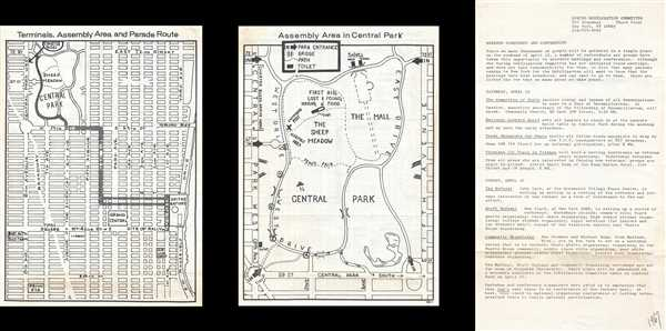Terminals, Assembly Area and Parade Route. / Assembly Area in Central Park.
