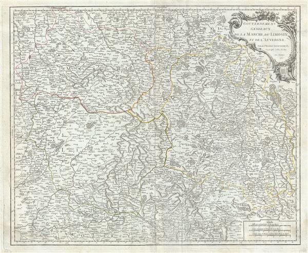 Gouvernemens Generaux de la Marche, du Limosin, et de l'Auvergne.