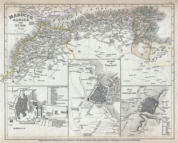 Marocco, Algier and Tunis. - Main View