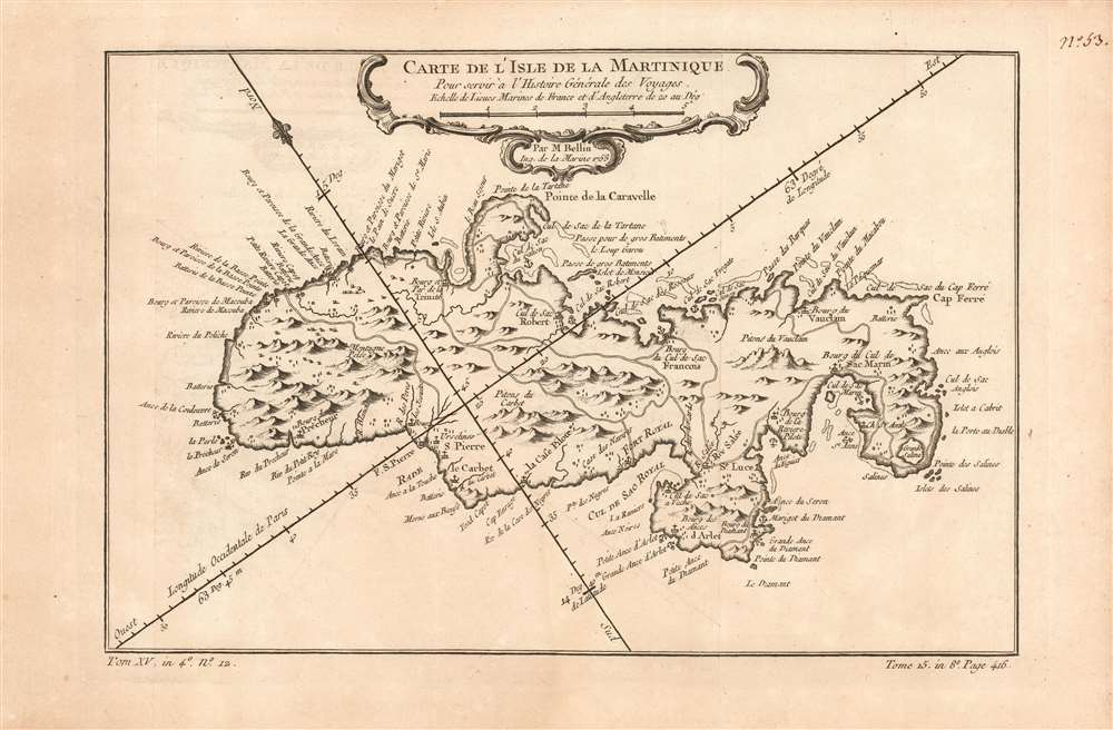 Carte de l'Isle de la Martinique. - Main View