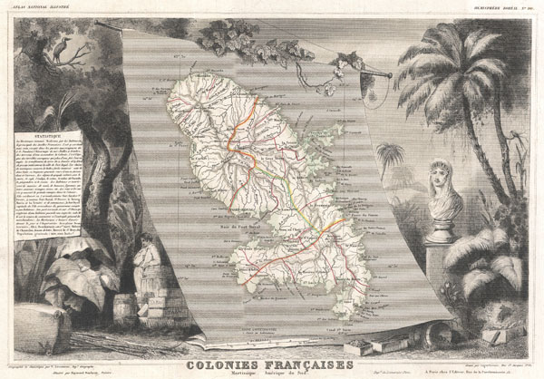 Colonies Francaises Martinique. Amerique du Sud.