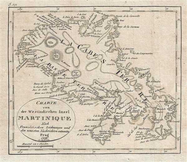 Charte von des Westindischen Insel Martinique. - Main View