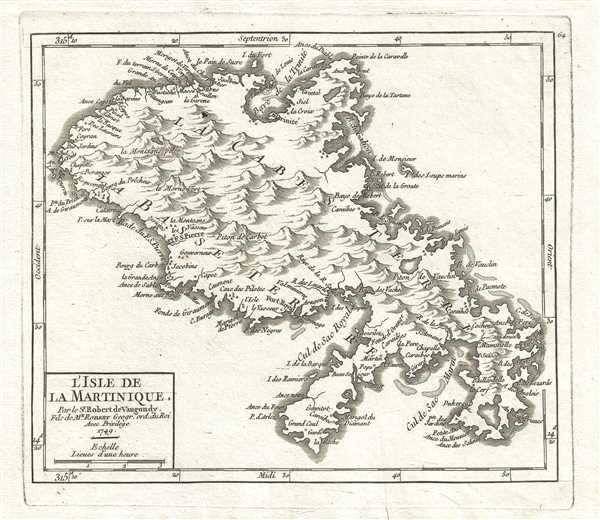L'Isle de la Martinique. Par le Sr. Robert de Vaugondy, Fils de Mr. Robert Geogr. ord. du Roi. - Main View