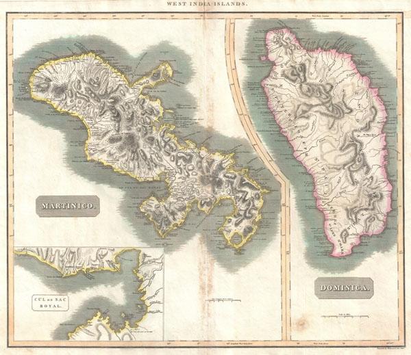West India Islands. / Martinico. / Dominica. / Cul de Sac Royal. - Main View