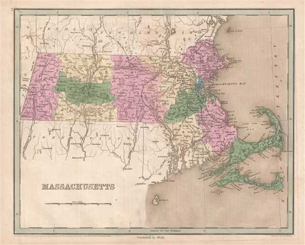 Machusetts.: Geographicus Rare Antique Maps on
