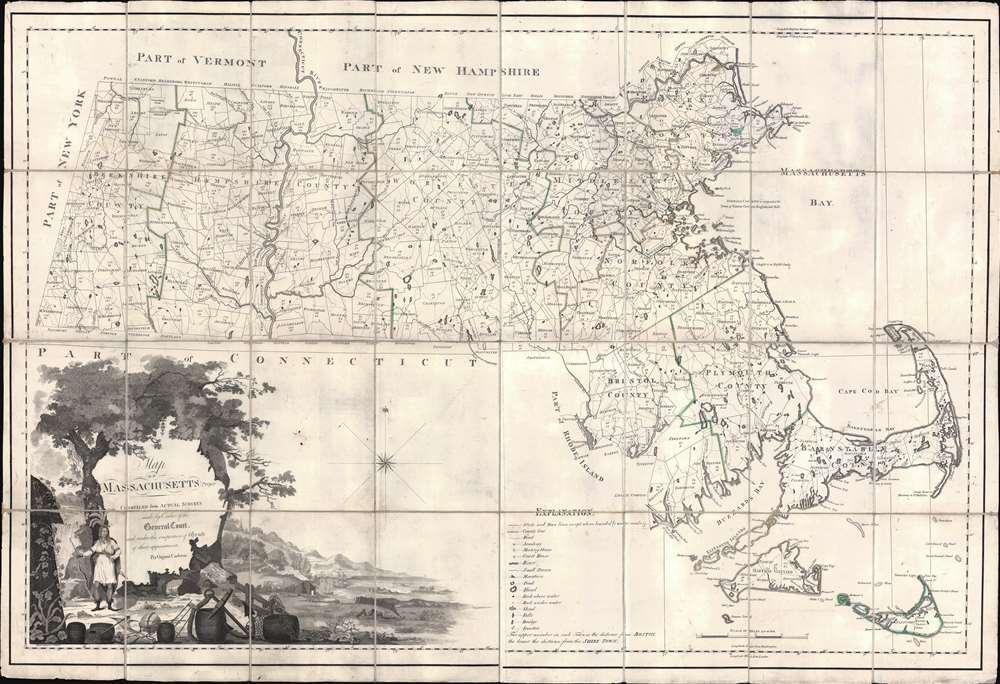 1801 Osgood Carleton Map of Massachusetts