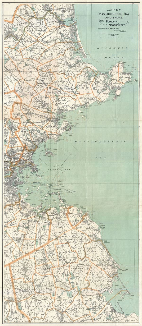 Map of Massachusetts Bay and Shore from Plymouth to Newburyport. - Main View