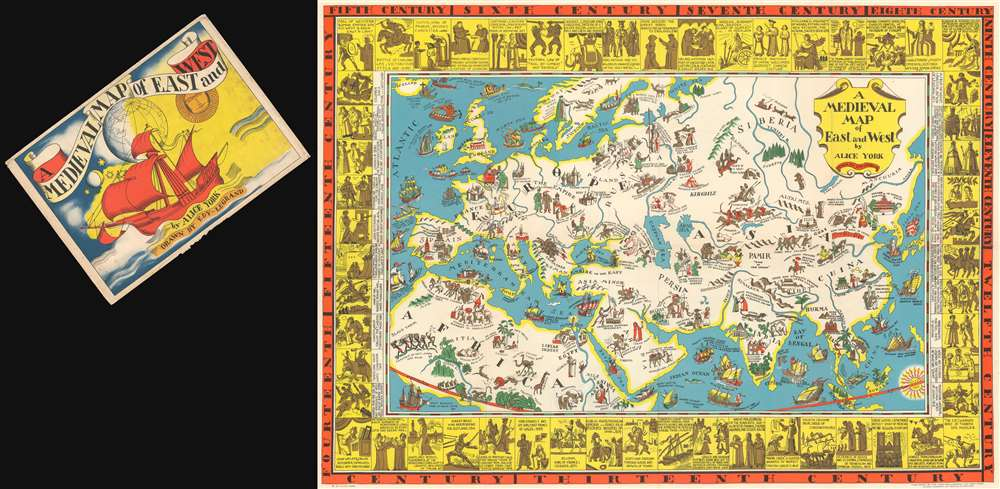 A Medieval Map of East and West by Alice York. - Main View