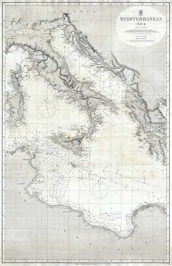 Mediterranean Sea From the Latest Surveys. - Main View
