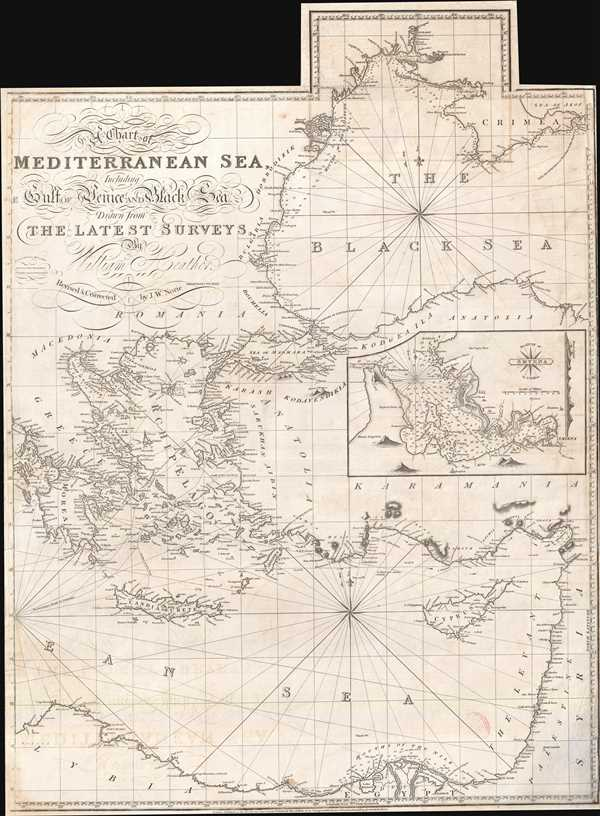 A Chart of the Mediterranean Sea, Including the Gulf of Venice and Black Sea.