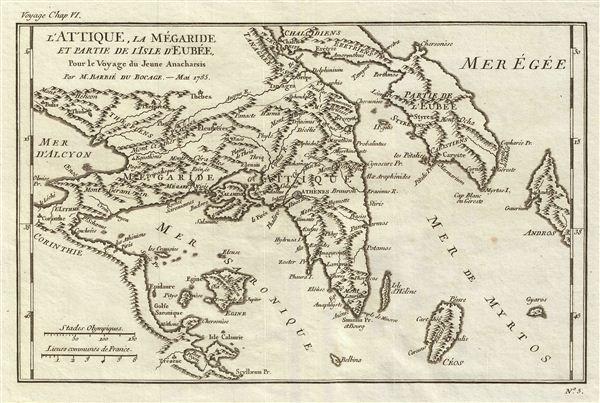 l'Attique, la Megaride et partie de l'Isle d'Eubee, Pour le Voyage du Jeune Anacharsis.