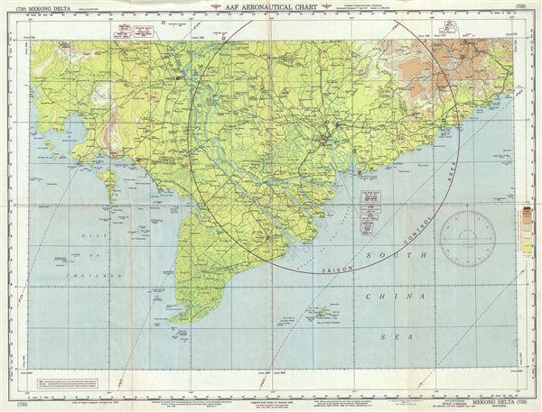 AAF Aeronautical Chart Mekong Delta. - Main View