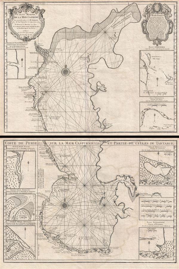 Carte Marine de la Mer Caspiene.