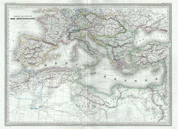 Carte du Bassin de la Mer Mediterranee. - Main View