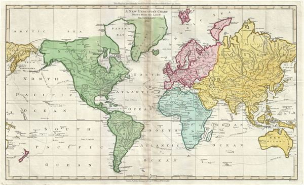 A New Mercator's Chart Drawn from the Latest Discoveries.
