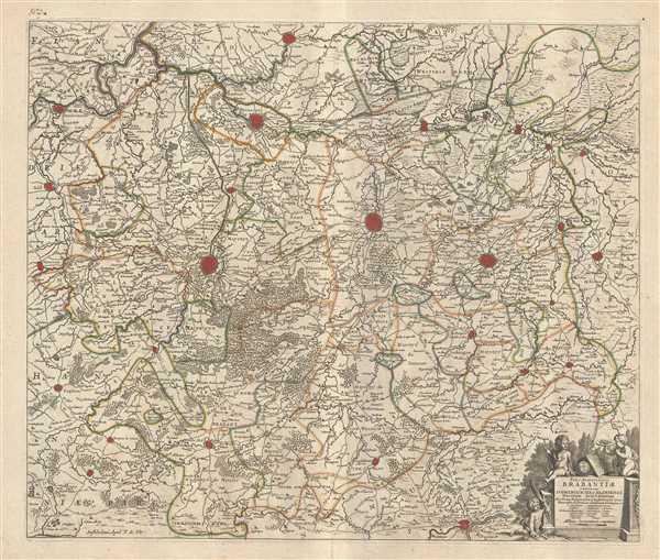Pars Meridionalis Brabantiae continens Dominium Merchliniense Ducatum Arschotanum.