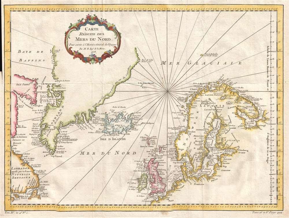 Carte Reduite des Mers du Nord. - Main View