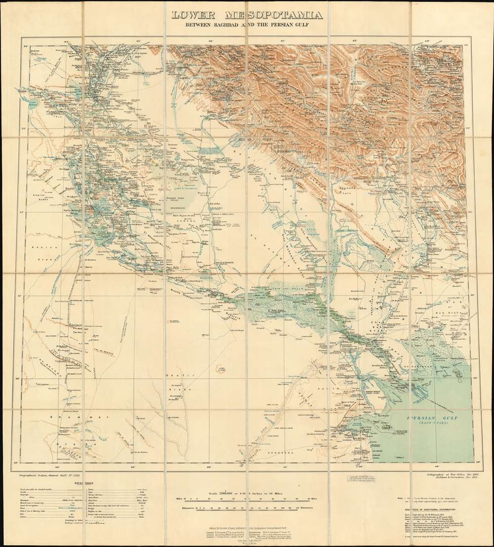 Lower Mesopotamia Between Baghdad and the Persian Gulf. - Main View