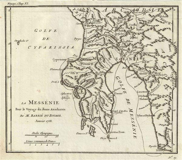 La Messenie Pour le Voyage du Jeune Anacharsis.
