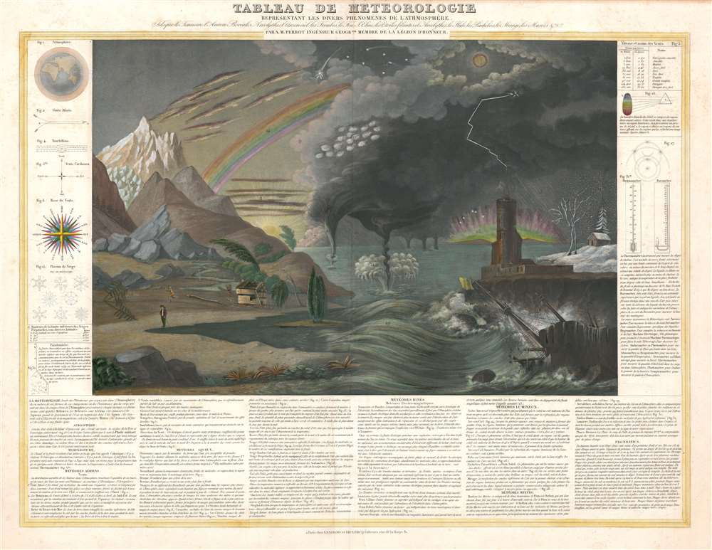 1844 Perrot Chart or Map of Weather Phenomena