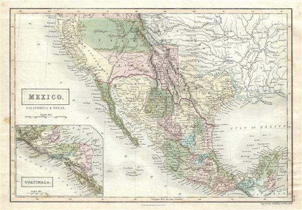Mexico, California & Texas. - Main View