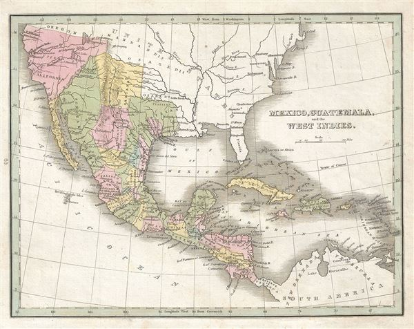 Mexico, Guatemala and the West Indies.