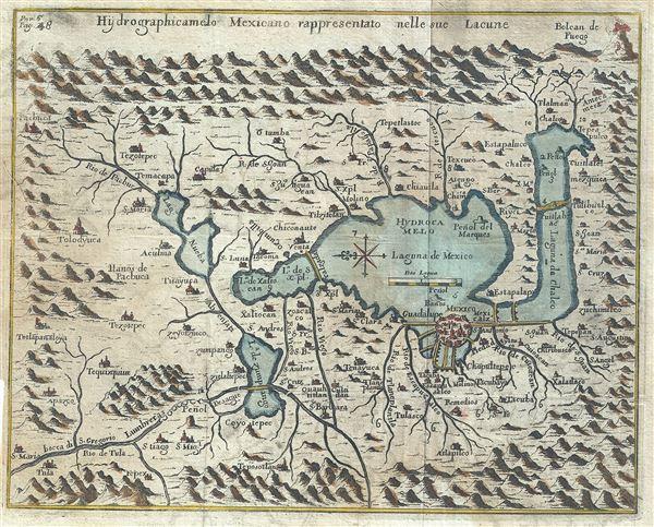 Hydrographicamelo Mexicano rappresentato nelle sue Lacune.