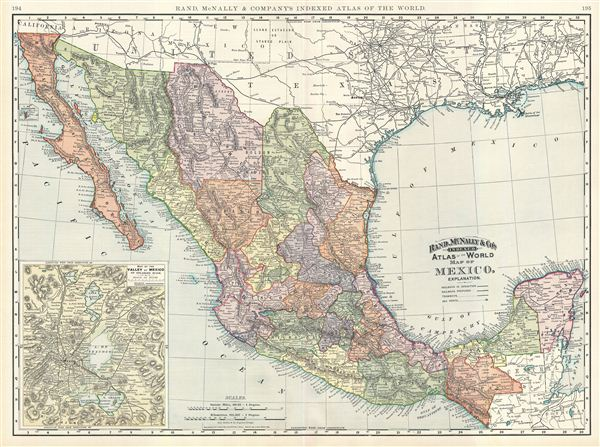 Map of Mexico. - Main View