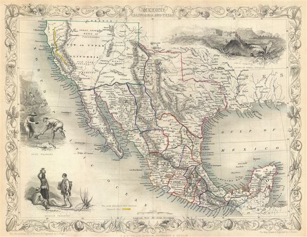 Mexico, California and Texas. - Main View