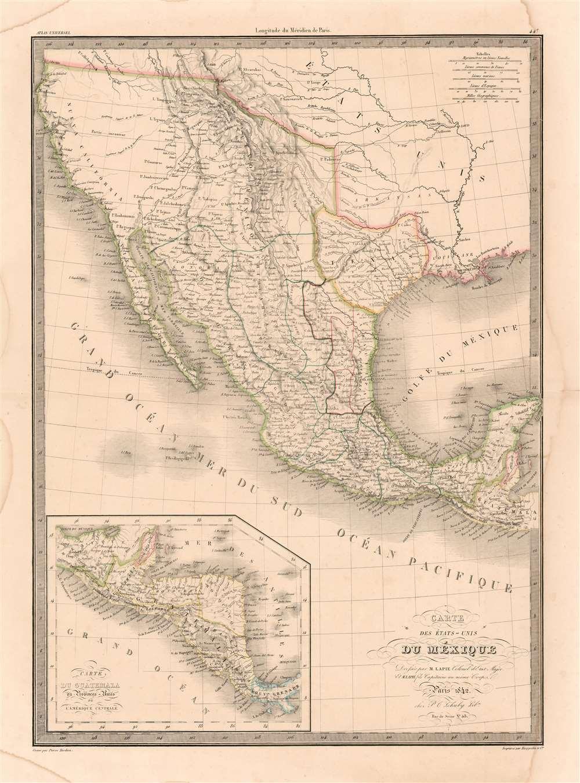 Carte Des États-Unis du Méxique. - Main View