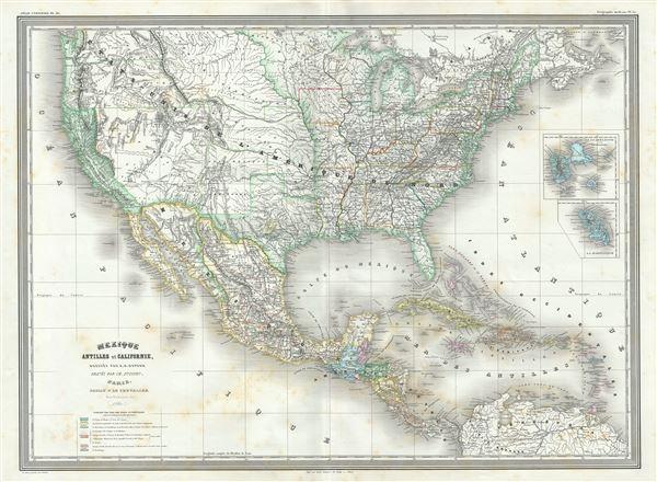 Mexique Antilles et Californie.