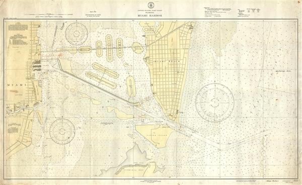 United States - East Coast Florida Miami Harbor.  No. 547.