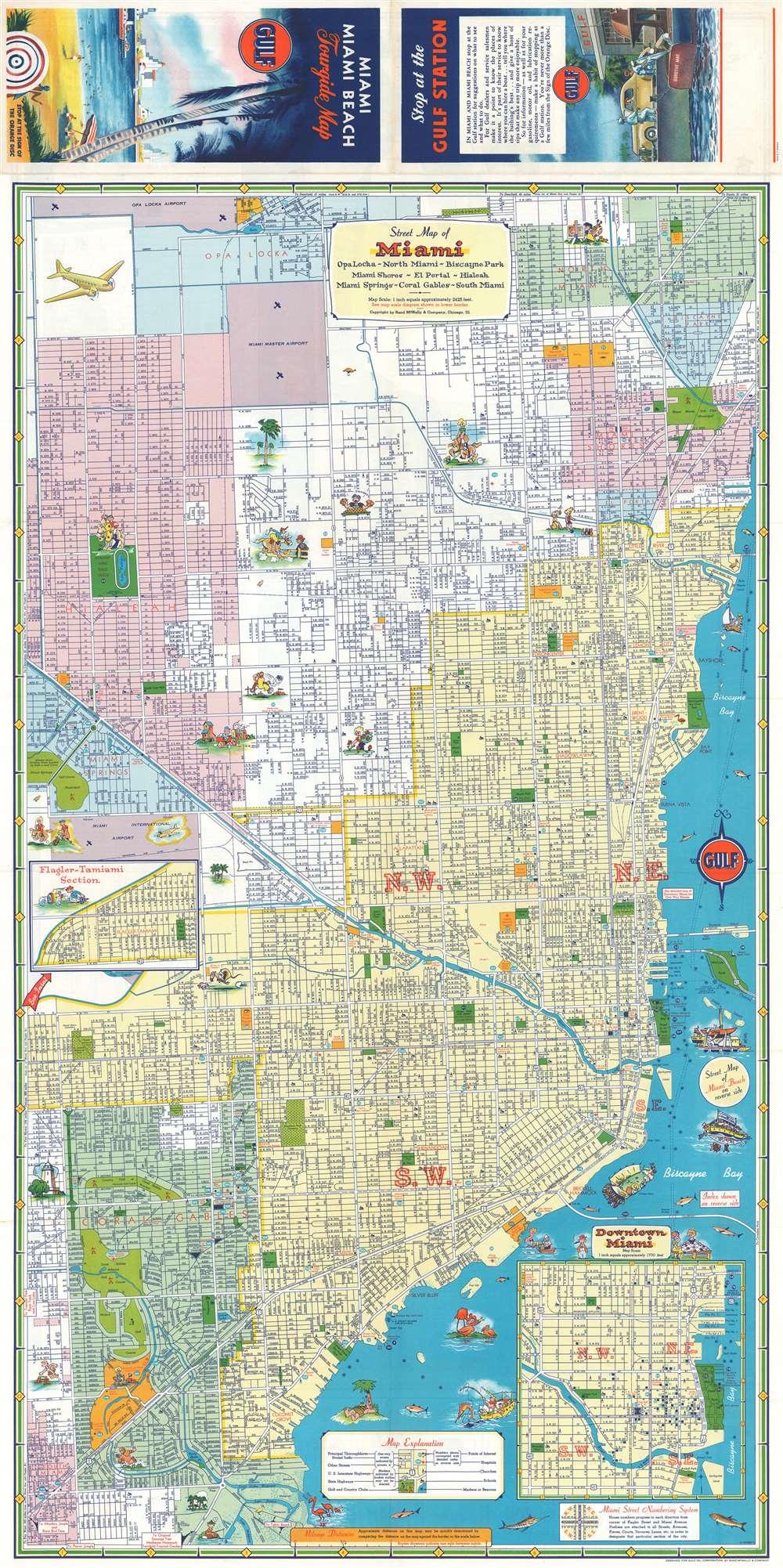 Miami Miami Beach Tourguide Map. - Alternate View 1