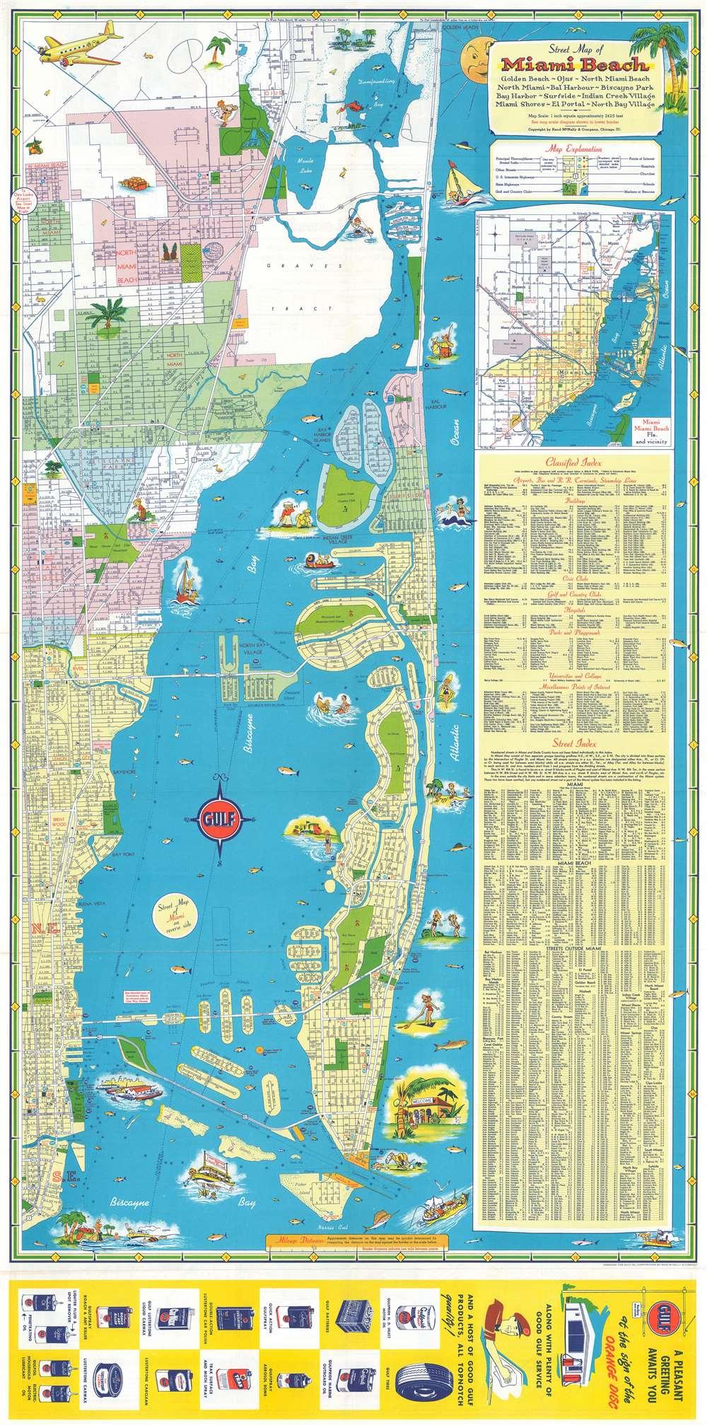 Miami Miami Beach Tourguide Map. - Main View