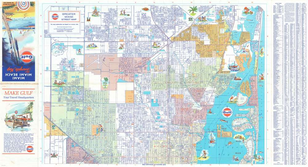 Greater Miami Street Map. - Alternate View 1