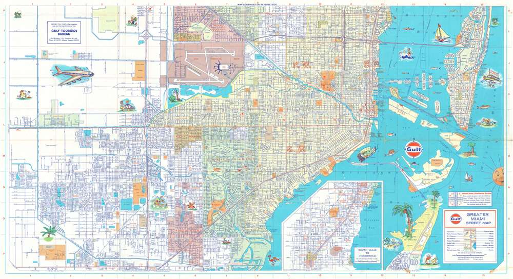Greater Miami Street Map. - Main View