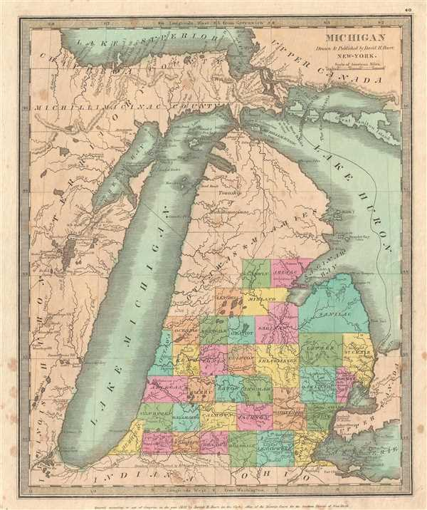 Michigan Drawn & Published by David H. Burr.