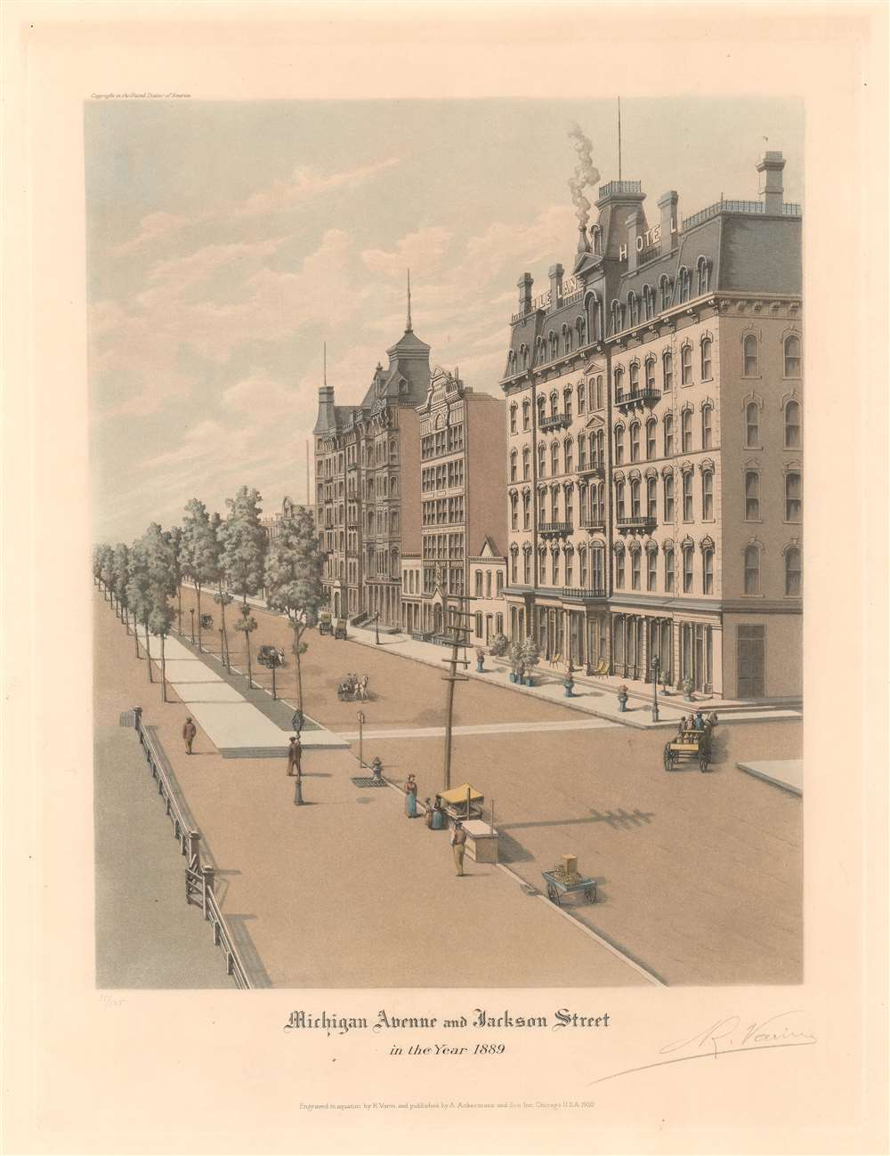 Michigan Avenue and Jackson Street in the Year 1889. - Main View