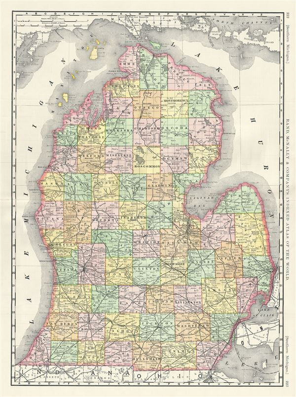 Southern michigan geographicus rare antique maps southern michigan publicscrutiny Image collections