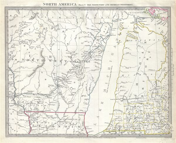 North America Sheet V The North West and Michigan Territories.