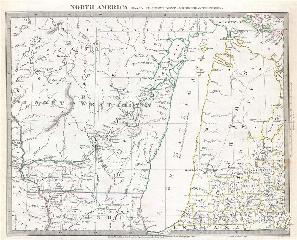 North America Sheet V The North West and Michigan Territories. - Main View