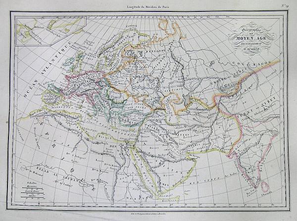 Geographie Du Moyen Age Principalement au IXe Siecle.