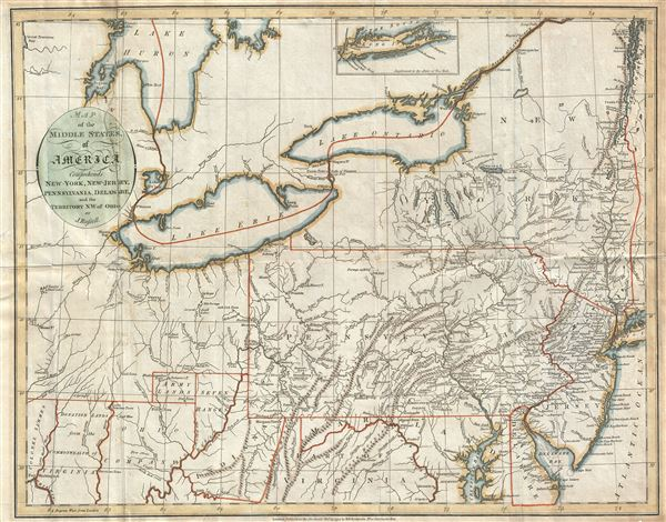 Map Of New York Ohio Area.Map Of The Middle States Of America Comprehends New York New