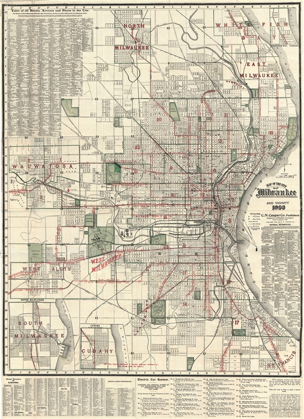 Map of the City of Milwaukee and Vicinity.