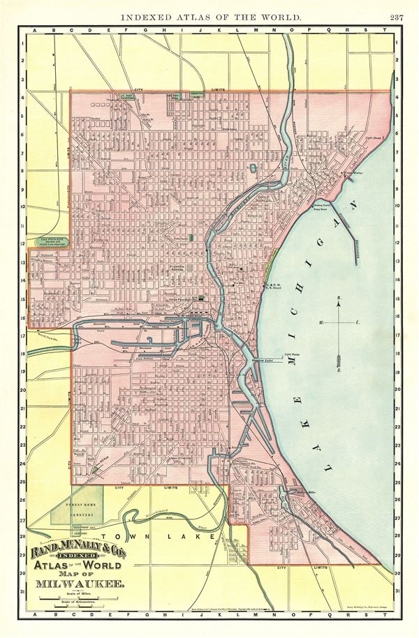 Map of Milwaukee. - Main View
